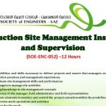 training Construction Site Management and Supervision